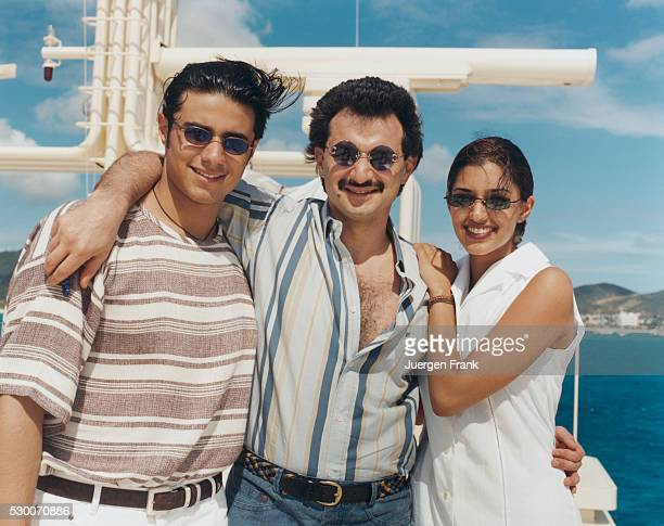 Prince Alwaleed Bin Talal Abdul Aziz Alsaud With Daughter Princess Reem And Son Khaled
