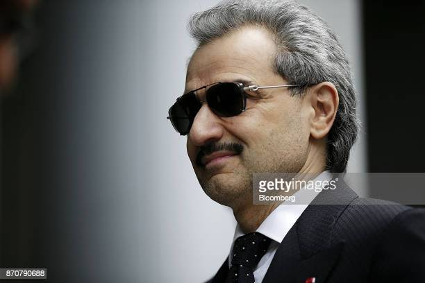 Prince Alwaleed Bin Talal Saudi billionaire and founder of Kingdom Holding Co arrives to give evidence at the High Court in London UK on Monday July...