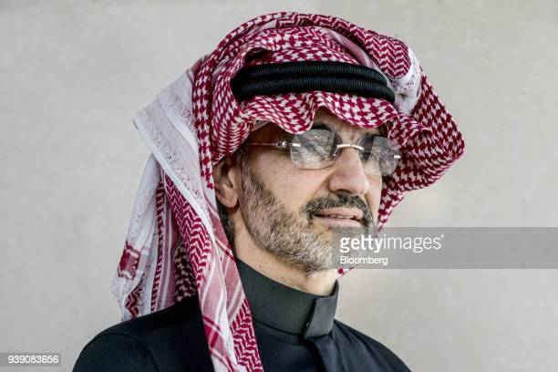 Prince Alwaleed Bin Talal, Saudi billionaire and founder of Kingdom Holding Co., poses for a photograph in the penthouse office of Kingdom Holding...