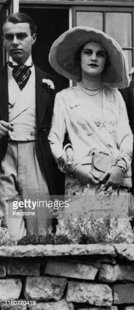 Prince Aly Khan with English socialite Margaret Whigham at Queen's Hill, Ascot, Berkshire, June 1930. Whigham later became Duchess of Argyll.