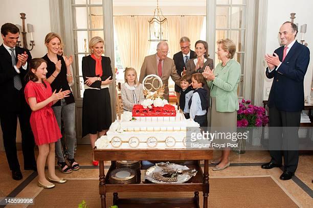 Prince Amadeo, Princess Louisa Maria, Princess Maria Laura, Princess Astrid, Princess Louise, King Albert, Prince Aymeric, Prince Nicolas, Prince...