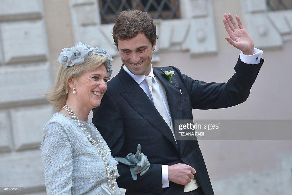 ITALY-BELGIUM-ROYALS-WEDDING-AMEDEO : News Photo
