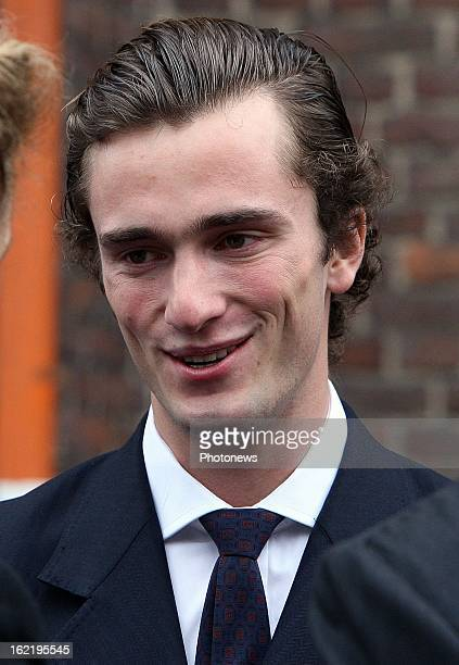 Prince Amedeo of Belgium at the commemoration service of Prince d'Orleans Bragance one of the victims of the Air France crash on June 1 2009...