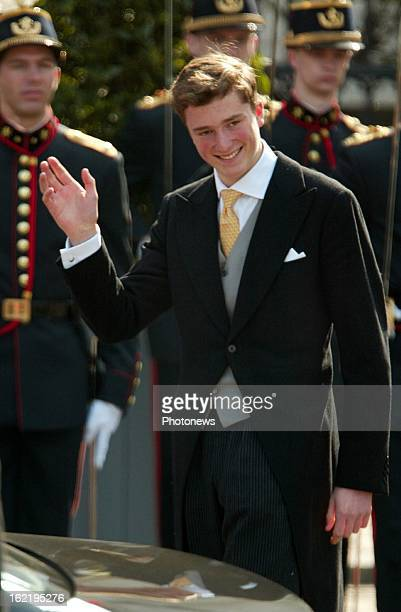 Prince Amedeo of Belgium at the wedding of Prince Laurent and Claire Coombs