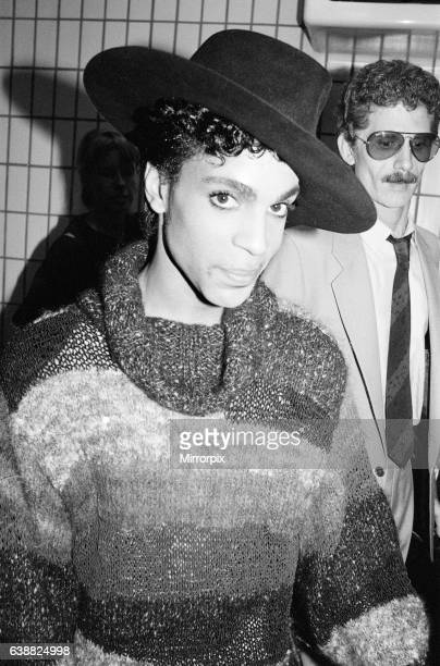 Prince, american singer, arrives at London Gatwick Airport. He is in the UK for three concerts, first leg of his Parade Tour, to be held at Wembley...