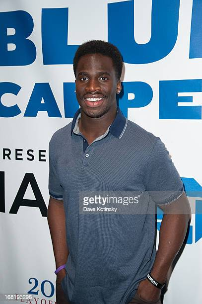 Prince Amukamara attends the Washington Capitals vs New York Rangers 2013 Playoff Game Three at Madison Square Garden on May 6 2013 in New York City