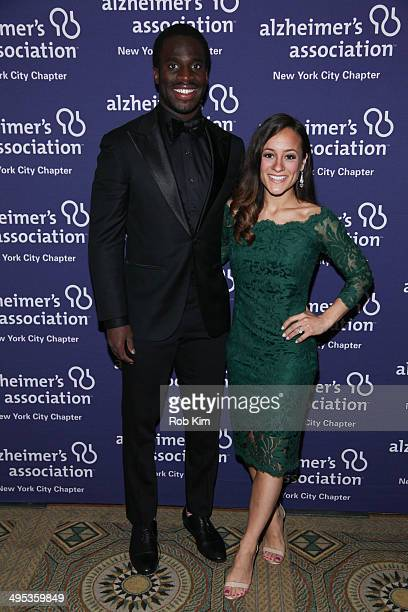 Prince Amukamara of the New York Giants and Pilar Amukamara attend the 2014 ForgetMeNot Gala An Evening To End Alzheimer's at The Pierre Hotel on...
