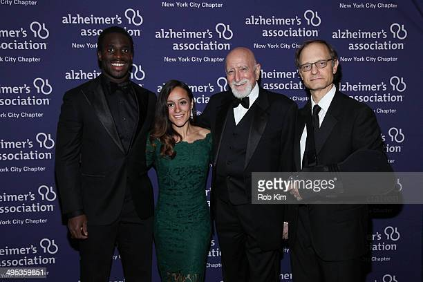 Prince Amukamara Pilar Amukamara Dominic Chianese and David Hyde Pierce attend the 2014 ForgetMeNot Gala An Evening To End Alzheimer's at The Pierre...