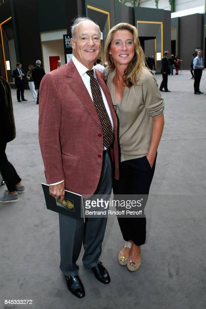Prince Amyn Aga Khan and Marella RossiMosseri the Biennale des Antiquaires 2017 PreOpening at Grand Palais on September 10 2017 in Paris France