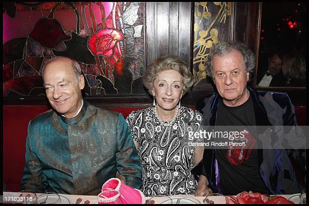 Prince Amyn Aga Khan Ariane Dandois Jacques Grange at Gloria Von Thurn Und Taxis And Thaddaeus Ropac's Anniversary At Maxim'S In Paris