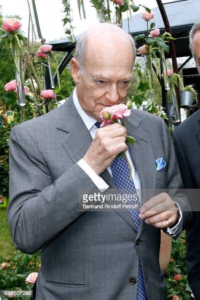 Prince Amyn Aga Khan attends the Baptism of the Rose 'Domaine de Chantilly' selected by Prince Amyn Aga Khan and created by Georges Delbard during...