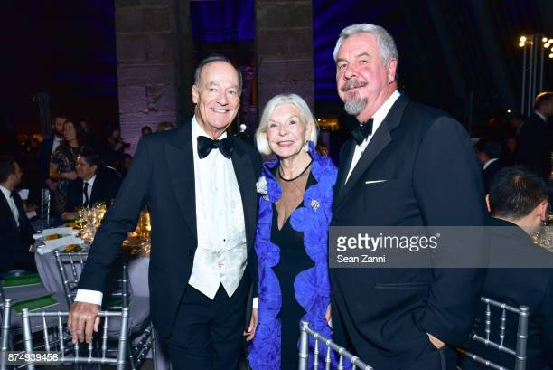 Prince Amyn Aga Khan Joan Hardy Clark and Jack Shear attend The Aga Khan Foundation Gala at The Metropolitan Museum of Art on November 15 2017 in New...