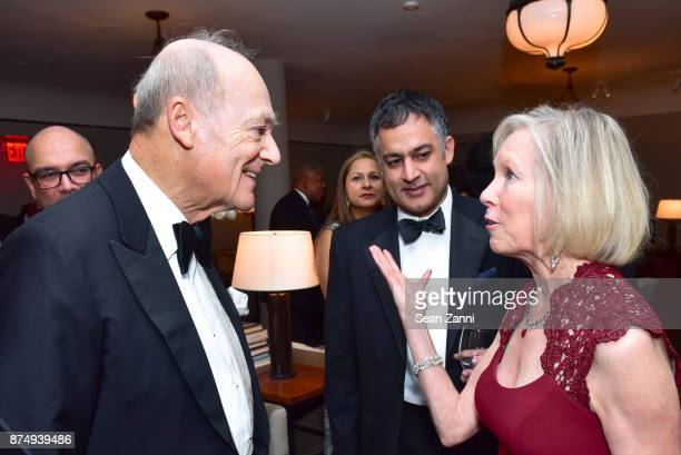 Prince Amyn Aga Khan Karim Rehmat and Kathy Calvin attend The Aga Khan Foundation Gala at The Metropolitan Museum of Art on November 15 2017 in New...
