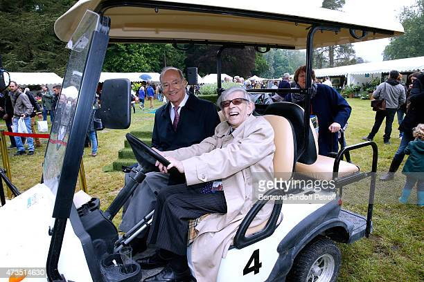 Prince Amyn Aga Khan Patrice Fustier and his wife Helene attend the Days of Plants 2015 From Courson To Chantilly Held at Chateau de Chantilly on May...