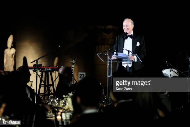 Prince Amyn Aga Khan speaks at The Aga Khan Foundation Gala at The Metropolitan Museum of Art on November 15 2017 in New York City