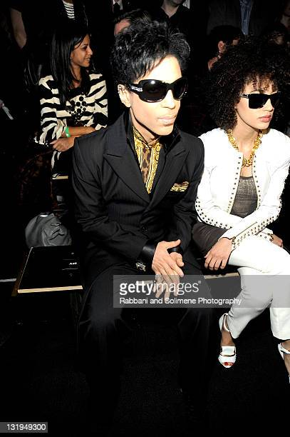 Prince and Andy Allo attend the Versace for HM Fashion event at the HM on the Hudson on November 8 2011 in New York City