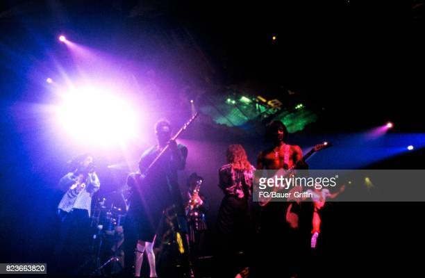 Prince and his band in Paris on June 13 1987 in Paris France 170612F1