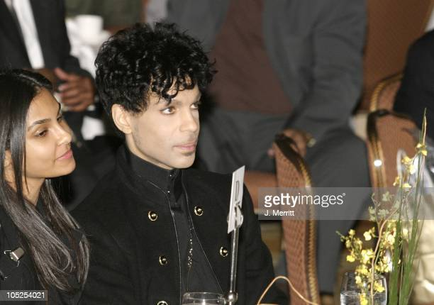 Prince and his wife Manuela Testolini during 2nd Annual AEC Grammy Sunday Brunch at The Regent Beverly Wilshire Hotel in Beverly Hills California...