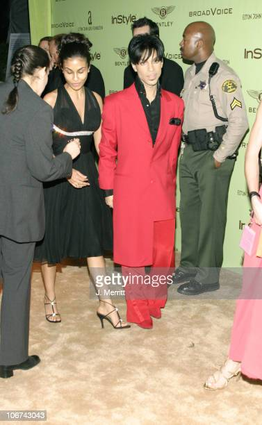 Prince and his wife Manuela Testolini during Elton John AIDS Foundation's 12th Annual Oscar party cohosted by In Style Arrivals at Pearl in West...