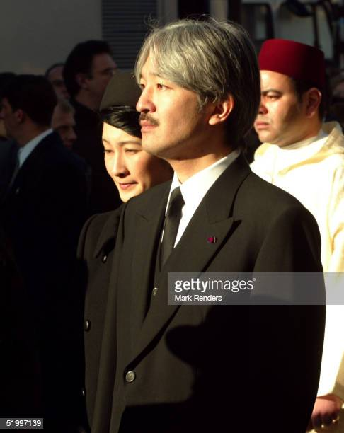 Prince and Princess Akishino from Japan leave the Cathedral after the funeral of the Grand Duchess Josephine Charlotte January 15 2005 in Luxembourg...