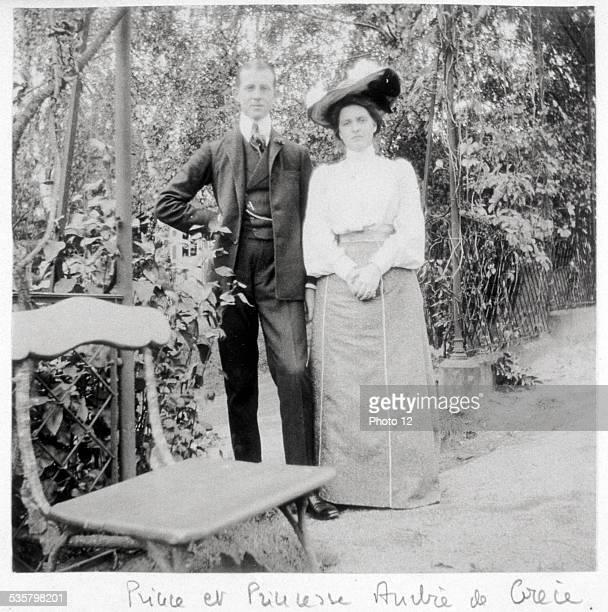 Prince and Princess Andrew of Greece, Prince Andrew of Greece, , Princess Alice of Greece, née Princess of Battenberg, 1885-1969, Mariés à Darmstadt...