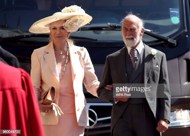 Prince and Princess Michael of Kent arrive at St George's Chapel at Windsor Castle before the wedding of Prince Harry to Meghan Markle on May 19 2018...