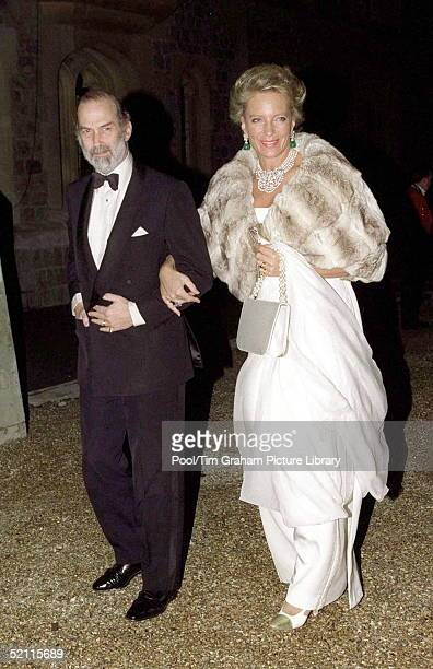 Prince And Princess Michael Of Kent Arriving For A Ball At Windsor Castle To Celebrate The Royal Golden Wedding Anniversary