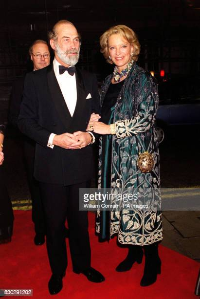 Prince and Princess Michael of Kent arriving for the premiere of the film version of Anton Chekhov's play The Cherry Orchard, at the Curzon Mayfair...