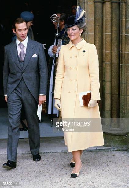 Prince and Princess Michael of Kent attend the wedding of Lord and Lady Romsey