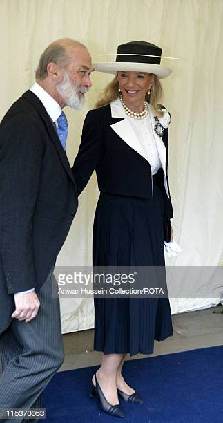 Prince and Princess Michael of Kent during The Royal Wedding of HRH Prince Charles and Mrs Camilla Parker Bowles The Blessing Ceremony Arrivals at St...