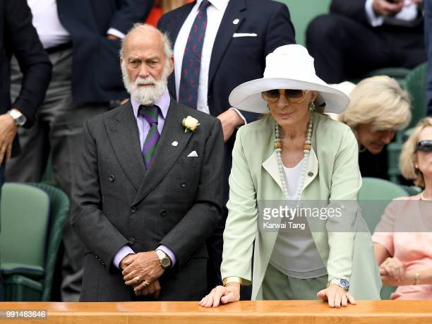 Prince and Princess Michael of Kent in the royal box on day three of the Wimbledon Tennis Championships at the All England Lawn Tennis and Croquet...