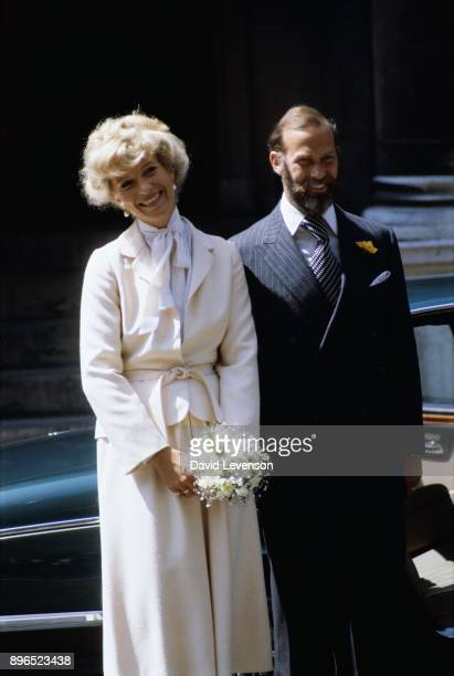 Prince and Princess Michael of Kent leave Westminster Cathedral after their five year old marriage was blessed by the Roman Catholic Church at...