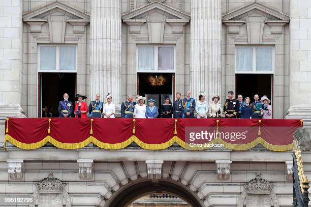 Prince and Princess Michael of Kent, Prince Edward, Earl of Wessex, Sophie, Countess of Wessex, Prince Charles, Prince of Wales, Prince Andrew, Duke...