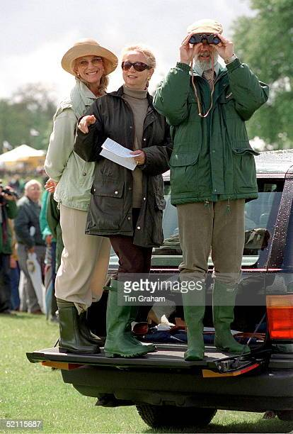 Prince And Princess Michael Of Kent With A Friend At Badminton Horse Trials Gloucestershire Prince Michael Of Kent Is Looking Through Binoculars