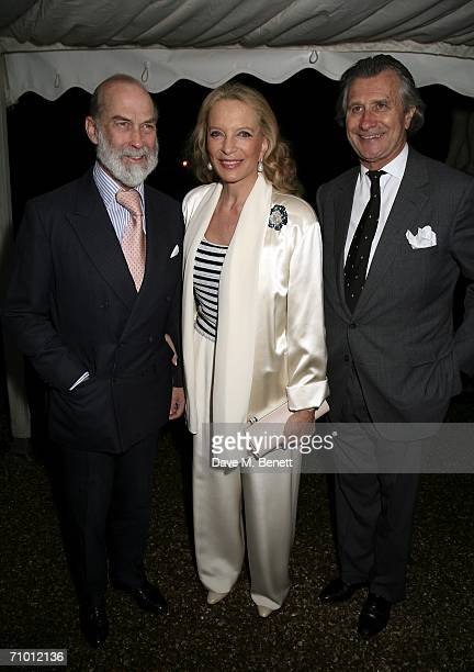 Prince and Princess Michael of Kent with Arnaud Bamberger attend the Cartier dinner party hosted by the managing director of Cariter Arnaud Bamberger...