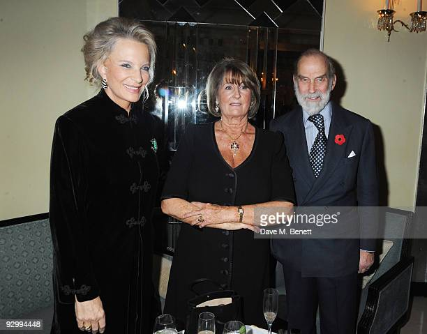 Prince and Princess Michael of Kent with Lady Annbel Goldsmith attend the book launch party for Lady Annabel Goldsmith's new book No Invitation...