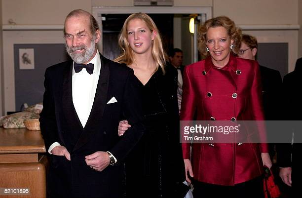 Prince And Princess Michael Of Kent With Their Daughter Gabriella Windsor At The International Show Jumping Championships At Olympia