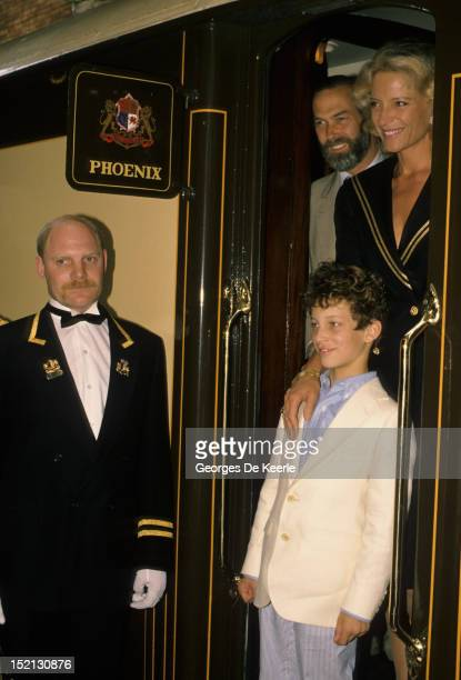 Prince and Princess Michael of Kent with their son Lord Frederick Windsor June 1988