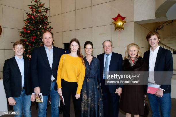 Prince and Princess Michel de France with Frederic Motte his wife President of the Event Angelique Motte and their children Maximilien Nicholas and...