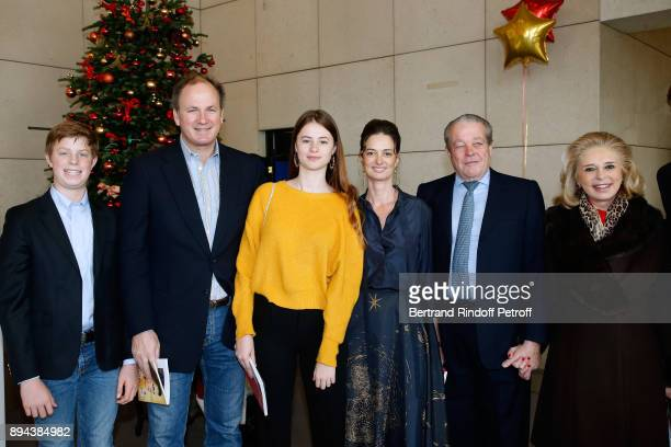 Prince and Princess Michel de France with Frederic Motte his wife President of the Event Angelique Motte and their children attend the 32th 'Reve...