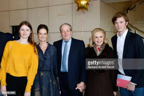 Prince and Princess Michel de France with President of the Event Angelique Motte and her children attend the 32th 'Reve d'Enfants' Charity Gala at...