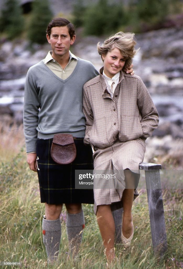 Prince and & Princess Of Wales at Bridge of Dee, Balmoral 19th August 1981.
