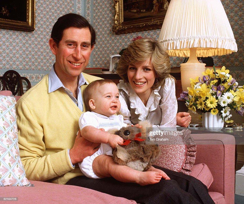 William Diana Charles At Home : News Photo