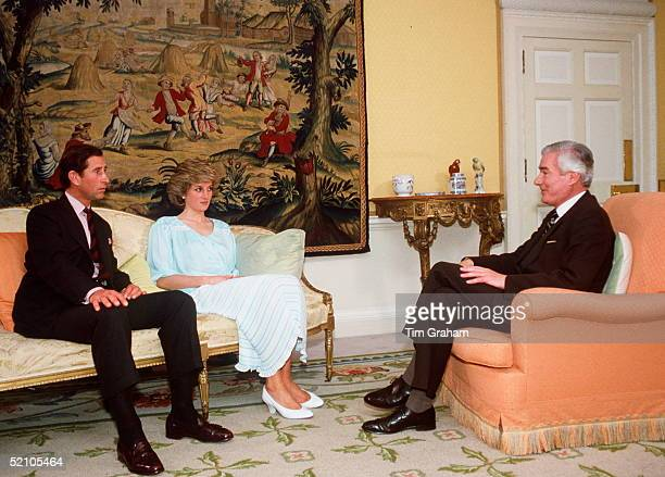 Prince And Princess Of Wales Being Interviewed By Sir Alastair Burnet In Kensington Palace