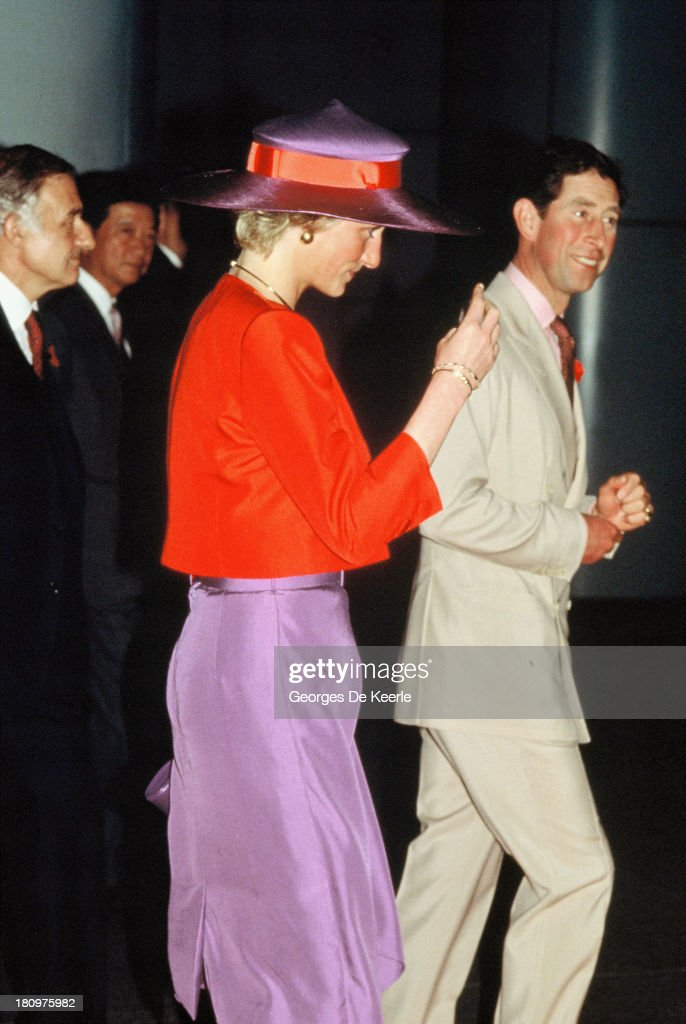 Diana And Charles In Hong Kong : News Photo