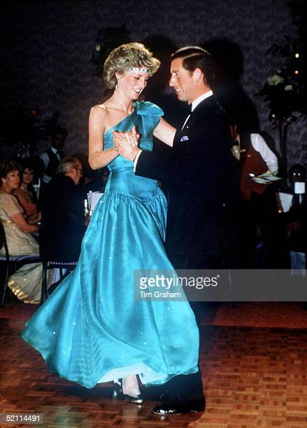 Prince And Princess Of Wales Dancing Together During A Visit To Melbourne Australia