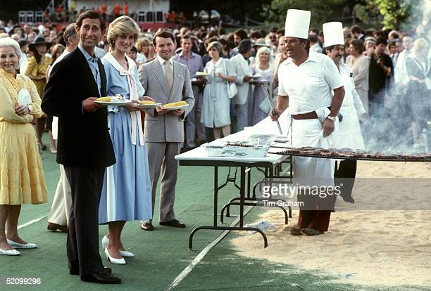 Prince And Princess Of Wales Enjoy A Barbecue At Kingsmere Farm Ottawa Canada