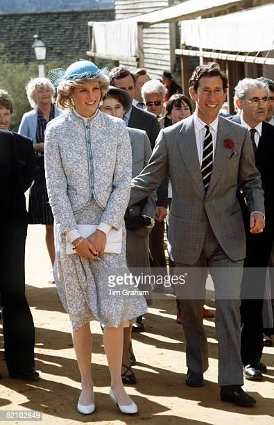 Prince And Princess Of Wales In Bendigo, Australia.