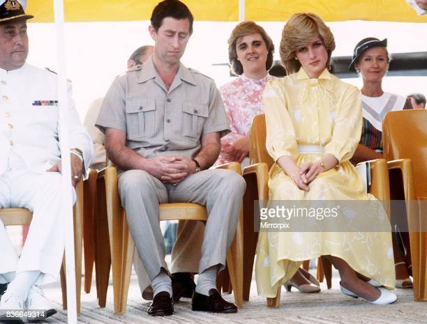 Prince and Princess of Wales tour of Australia and New Zealand in the Spring of 1983. Prince Charles and princess Diana pictured on their visit to...