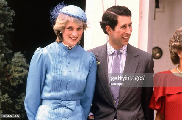 Prince and Princess of Wales visit to Australia and New Zealand in the Spring of 1983. Princess Diana and Prince Charles pictured outside Government...